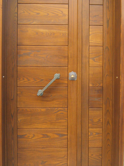 portone d'ingresso classico - Porta Dingresso In Legno Massello